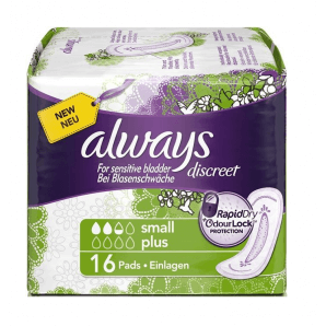 Always discreet incontinence small plus (16 pcs)