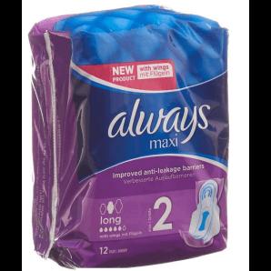 Always Maxi Bandage Long With Wings (12 pcs)