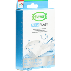 FLAWA Aqua plasters 10x15cm waterproof (6 pieces)
