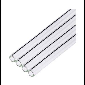 Glass straws straight / transparent 20cm (4 pieces)