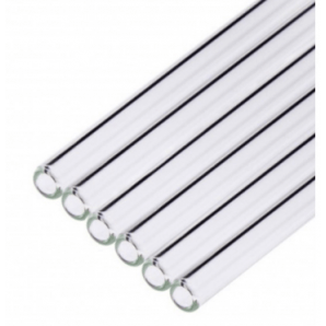 Glass straws straight / transparent 20cm (6 pieces)