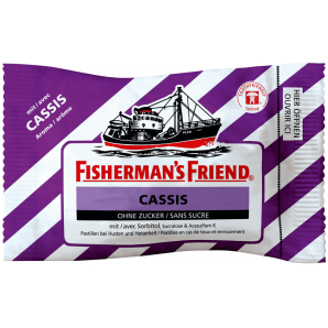 Fisherman's friend Cassis without sugar (25g)
