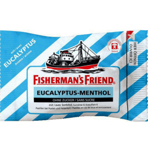 Fisherman's friend Eucalyptus menthol without sugar (25g)
