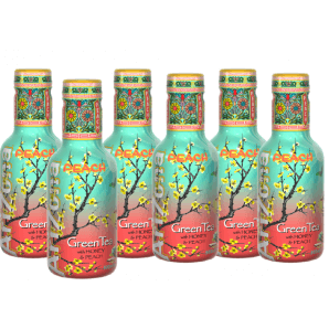 AriZona Peach Green Tea (6 x 500ml)