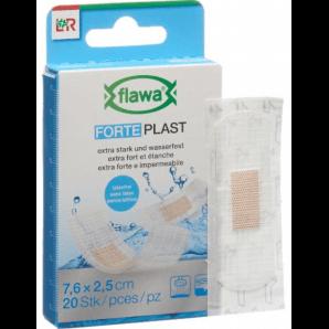 FLAWA Forte Plast Pflaster Transparent 2.5x7.6cm (20 Stk)