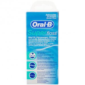 Oral-B soie dentaire Superfloss (50 pièces)