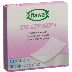 FLAWA Gauze Compresses Germ reduced 10x10cm (80 pieces)