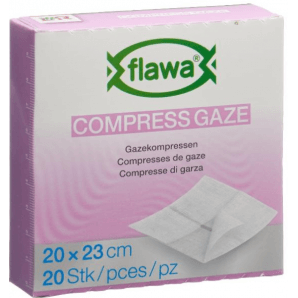 FLAWA des compresses de gaze 20x23cm réduites de germes (20 pièces)