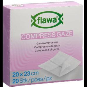 FLAWA Gauze Compresses Germ reduced 20x23cm (20 pieces)