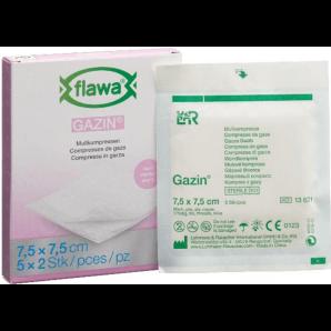FLAWA des Compresses de Gaze Gazin Sterill 7,5x7,5cm (5x2 pièces)