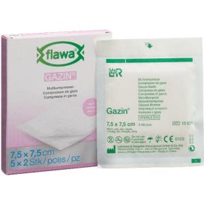 FLAWA Gazin Gauze Compresses Sterill 7,5x7,5cm (5x2 pieces)