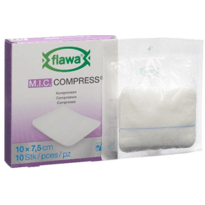 FLAWA MIC Compresses Germ reduced 10x7.5cm (10 pieces)