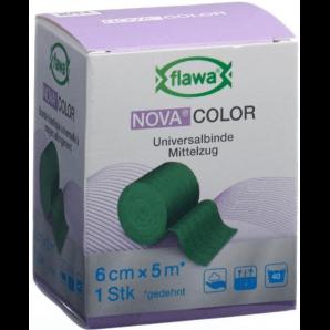 FLAWA NOVA COLOR Universalbinde Grün 6cmx5m (1 Stk)