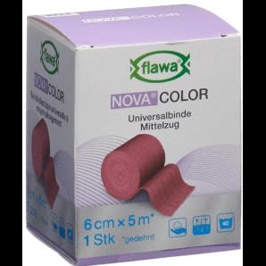 FLAWA NOVA COLOR Universal Bandage Red 6cmx5m (1 piece)
