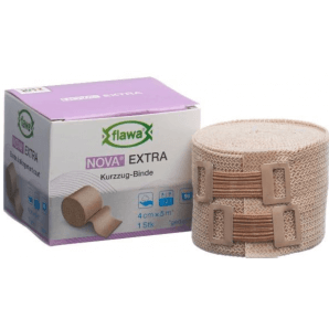 FLAWA NOVA EXTRA Short Stretch Bandage Skin Colored 4cmx5m (1pc)