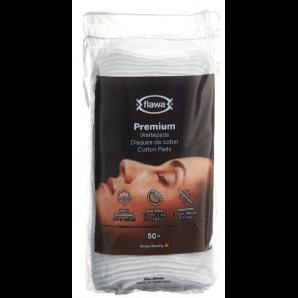 FLAWA Premium Cotton Pads Oval (50 pieces)