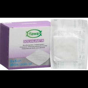 FLAWA Solvaline N Compresses Sterile 5x5cm (20 pieces)