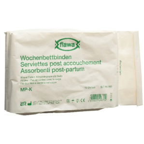 FLAWA Puerperium Bandages Short Germ Reduced (10 pieces)