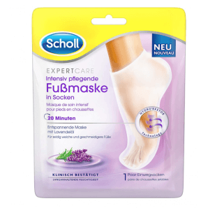 SCHOLL EXPERTCARE intensive nourishing foot mask with lavender oil (1 pair)