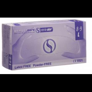 Sempercare Nitril Skin Handschuhe Grösse L, blau, puderfrei (200 Stk)