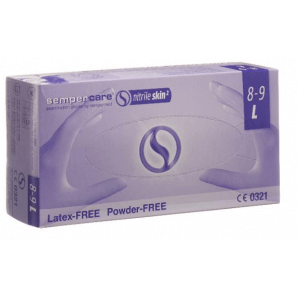 Sempercare nitrile skin gloves size L, blue, powder-free (200 pcs)