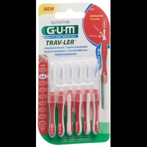 SUNSTAR Gum Proxabrush TravLer 0.8mm Interdental Brushes (6 pieces)