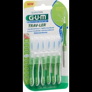SUNSTAR Gum Proxabrush TravLer 1.1mm Interdental Brushes (6 pieces)