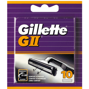 Gillette G II Replacement Blades (10 pieces)