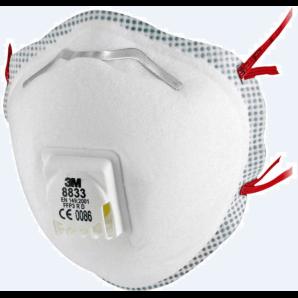 3M FFP3 masque respiratoire 8833 (10 pièces)