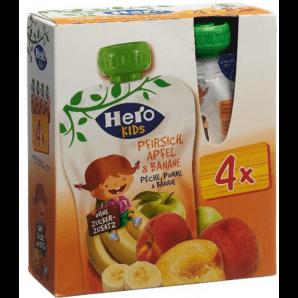 Hero Kids Smoothie Peach Apple Banana (4x120g)