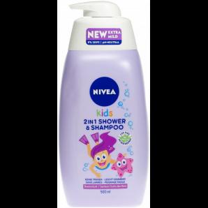 Nivea Kids 2in1 Shower & Shampoo Girl (500ml)