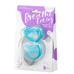 Curaprox Baby Pacifier size 0 blue double pack (2 pcs)