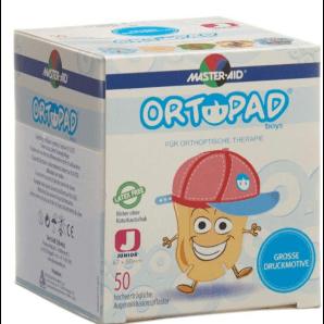 ORTOPAD Happy Occlusion Plaster Junior Boys 67x50 mm (50 pieces)