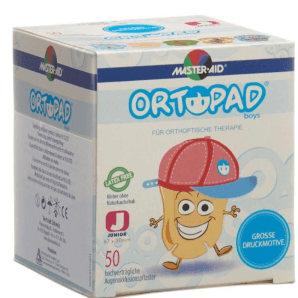 ORTOPAD Happy Occlusion Plaster Junior Boys 67x50 mm (50 pieces)
