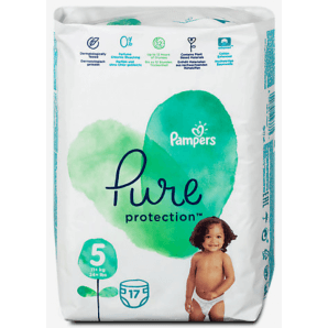 Pampers Pure Protection Diapers Gr. 5 (17 pieces)