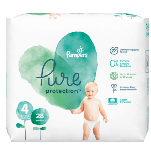 Pampers Pure Protection Diapers Gr. 4 (19 pieces)