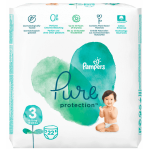 Pampers Pure Protection Diapers Gr. 3 (22 pieces)