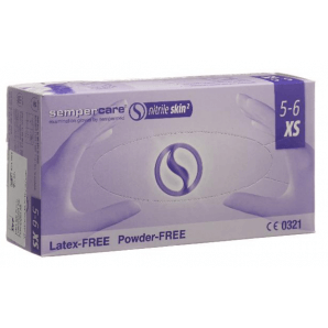 Sempercare nitrile skin gloves size XS, blue, powder-free (200 pcs)