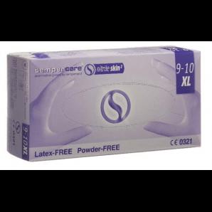 Sempercare nitrile skin gloves size XL, blue, powder-free (200 pcs)