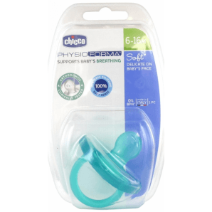 Chicco beruhigender Sauger physio soft Silikon blau 6-16m