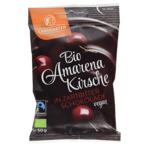 LANDGARTEN Bio Amarenakirsche in Zartbitter-Schokolade (50g)