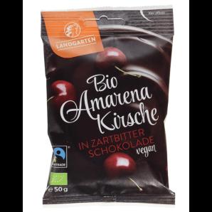 LANDGARTEN Cerise Amarena biologique au chocolat noir (50g)