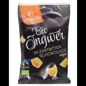 LANDGARTEN Bio Ingwer in Zartbitter-Schokolade (70g)