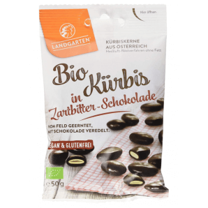 LANDGARTEN des graines de citrouille grillées au chocolat noir (50g)