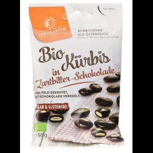 LANDGARTEN geröstete Kürbiskerne in Zartbitter Schokolade (50g)